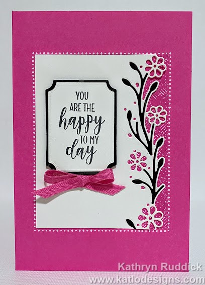 Country Home Stampin' Up! card with Magenta Madness card and ribbon from the Flowers for Every Season Suite for the Colour Creations Blog Hop