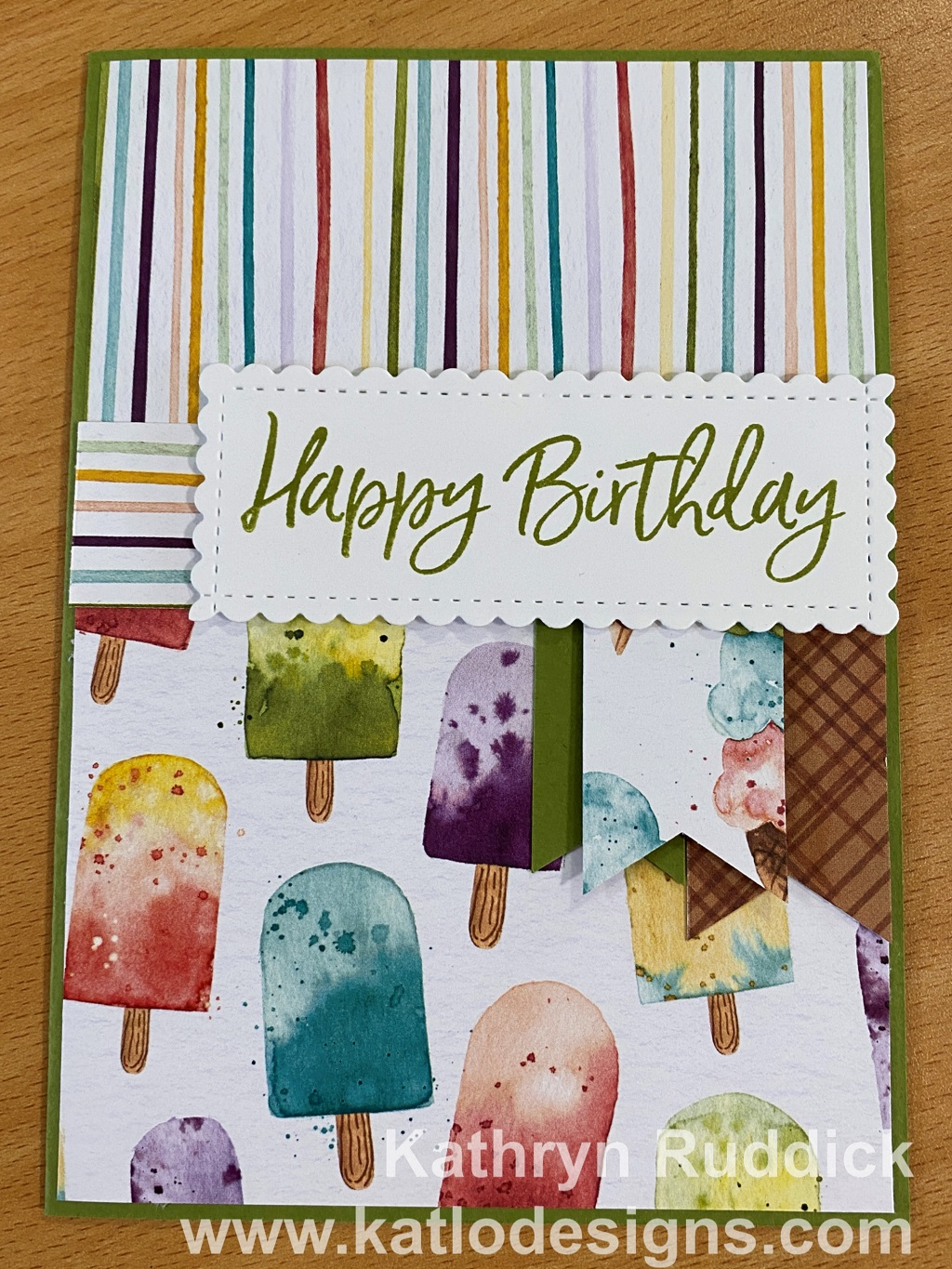 Ice Cream Corner Stampin' Up! cards for the Art With Heart Colour Creations Showcase