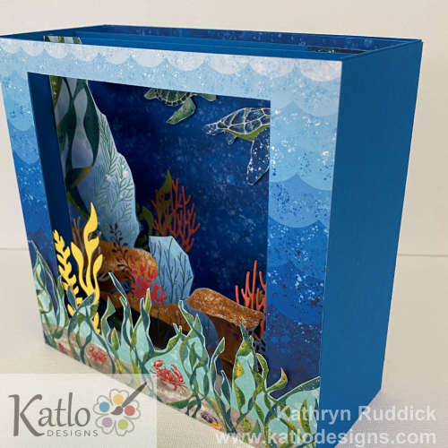 Whale of a Time Stampin' Up! Diorama Card Colour Creations Showcase